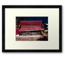 Red Seat Framed Print