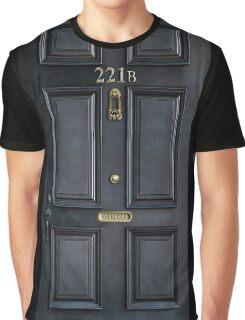 Black Door with 221b number Graphic T-Shirt