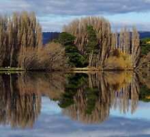 Meadowbank Lake reflection by Traffordphotos