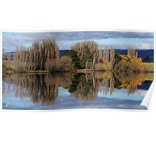 Meadowbank Lake reflection Poster
