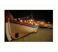 Decorated fishing boats Art Print