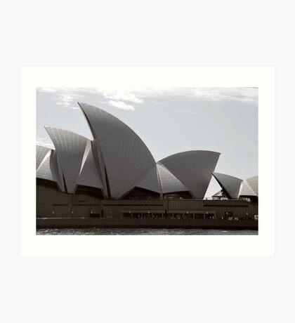 Sydney Opera House sails Art Print