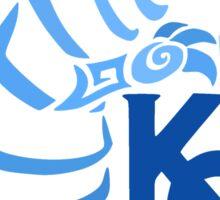Blue Eyes White Dragon - Gradient Blue Sticker