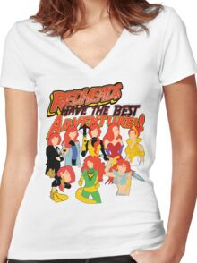Redheads have the best adventures! Women's Fitted V-Neck T-Shirt