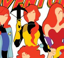 Redheads have the best adventures! Sticker