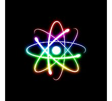 Colorful Glow Atomic Symbol Photographic Print