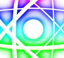Colorful Glow Atomic Symbol Sticker