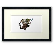 Skyim-Legend of Zelda Framed Print