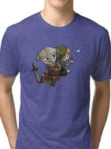 Skyim-Legend of Zelda Tri-blend T-Shirt
