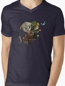 Skyim-Legend of Zelda Mens V-Neck T-Shirt