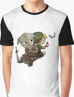 Skyim-Legend of Zelda Graphic T-Shirt
