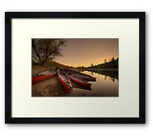 Done For The Day Framed Print