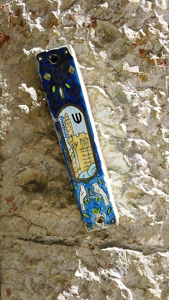 Mezuzah at Mamilla Mall Shop Jerusalem by MezuzahScrolls