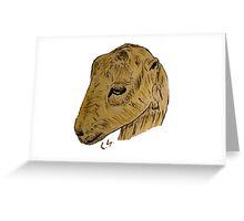 """Lamancha Goat""  by Carter L. Shepard Greeting Card"