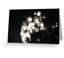 """Fire Works 1""  by Carter L. Shepard Greeting Card"