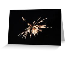 """Fire Works 4""  by Carter L. Shepard Greeting Card"