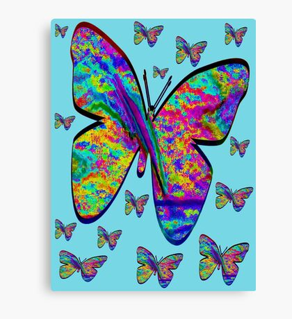 Butterfly-Flutteby..Tee Canvas Print