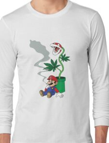 Super Pothead Mario Long Sleeve T-Shirt