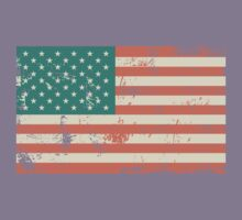 Grungy US flag Kids Clothes