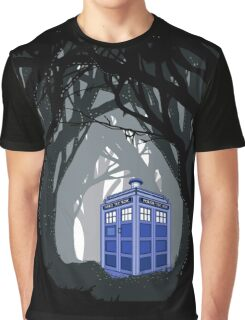 Space And Time traveller Box lost in the woods Graphic T-Shirt