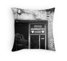 Vehicle Rustproofing Centre Throw Pillow