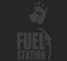 FuelStation with Handprint by Rainer Steinke
