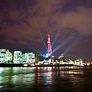 The Shard Laser Show by KarenM