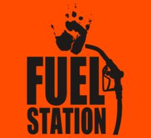 FuelStation with Handprint (black) by Rainer Steinke