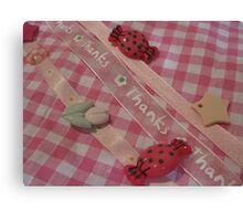 pretty buttons and bows Canvas Print