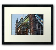 Olympic Symbol on Tower Bridge Framed Print