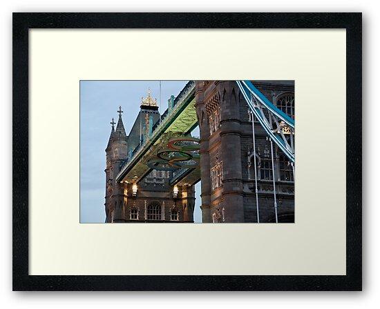 Olympic Symbol on Tower Bridge by Karen Martin