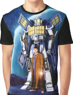 Giant Robot Phone Box with The Doctor Graphic T-Shirt
