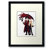 Hellsing and Alucard - Cartoon Style Framed Print