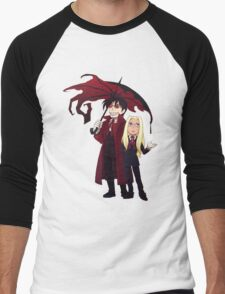 Hellsing and Alucard - Cartoon Style Men's Baseball ¾ T-Shirt