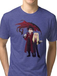 Hellsing and Alucard - Cartoon Style Tri-blend T-Shirt