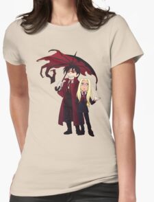 Hellsing and Alucard - Cartoon Style Womens Fitted T-Shirt
