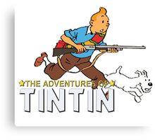 tintin adventures  Canvas Print