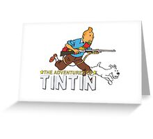tintin adventures  Greeting Card