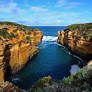 Entrance To Thunder Cave. Port Campbell National Park, Vic, Australia. by Ralph de Zilva