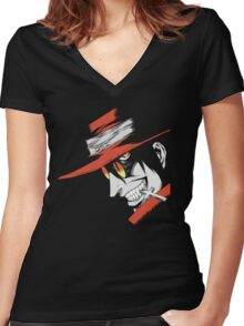 Hellsing - Alucard Face Women's Fitted V-Neck T-Shirt