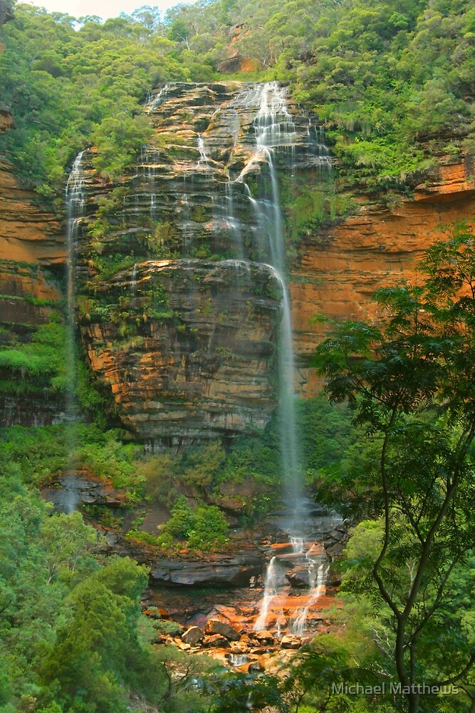 Wentworth Falls .. the first drop by Michael Matthews