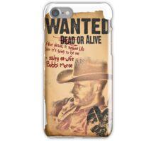 Cowboy Lance Hunter Wanted iPhone Case/Skin