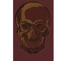 Red skull Photographic Print