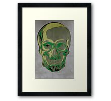 Green skull Framed Print