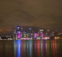 Sydney Skyline Vivid 2012 by Jeffrey So
