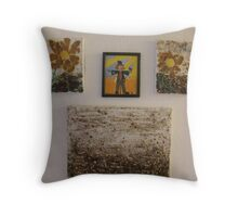 SPRING - 21 - ALL A SCARECROW'S FEILD Throw Pillow
