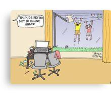Kids Online Canvas Print