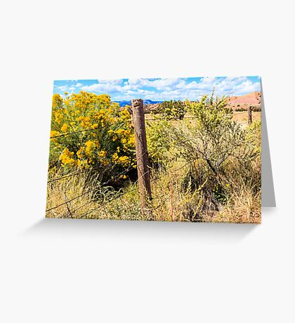 New Mexico Fence Greeting Card