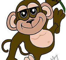 Spunky Monkey by artandrhyme