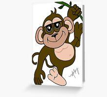 Spunky Monkey Greeting Card
